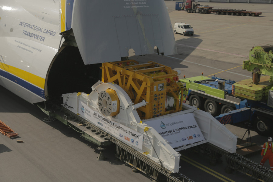 The combined capping stack and air freight skid design was verified for air transportation by Antonov Airlines' technical department confirming that the cargo can be airlifted in both AN-124-100 and AN-124-100M-150 variants