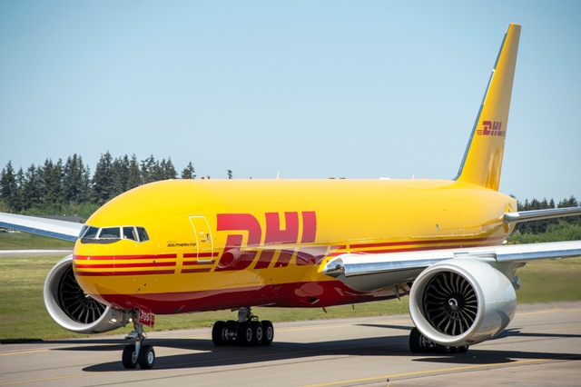 DHL 777 Freighter Delivery Cruise, Ribbon Cuttiing & Flyaway